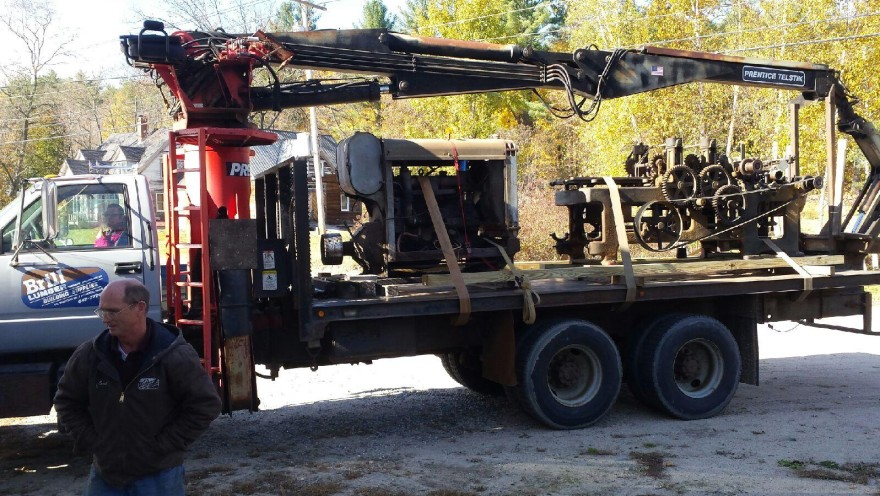Planer arriving at new home